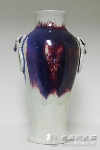 钧瓷新工艺作品《荷口观音瓶》