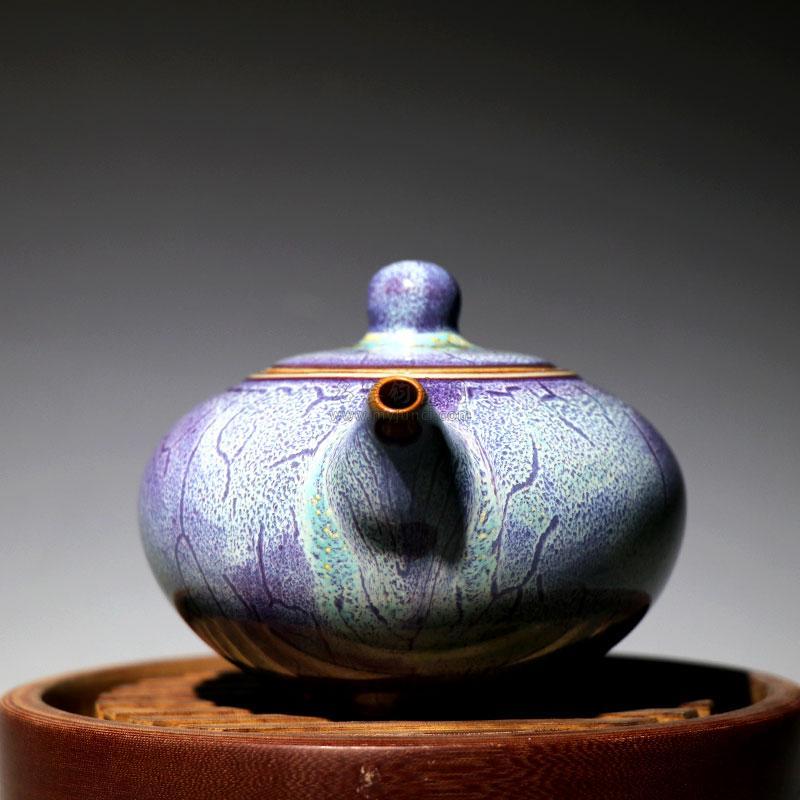中号圆满壶-张亚龙 钧瓷壶作品