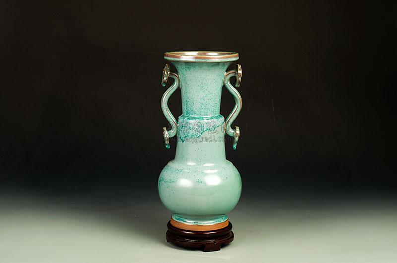 竹节如意瓶,柴烧,9800.jpg