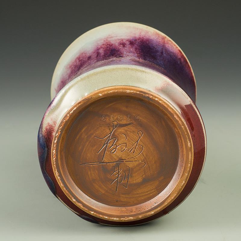 钧瓷竹节笔筒-杨文杰传统煤烧作品