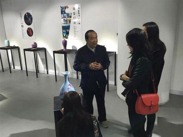 周松建大师钧瓷艺术成就品鉴会在上海博源美术馆开幕