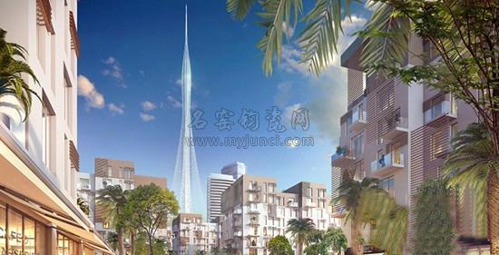 迪拜建世界最高塔:迪拜地标性观光塔