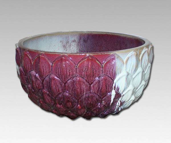 霍福生钧瓷作品:莲花缸