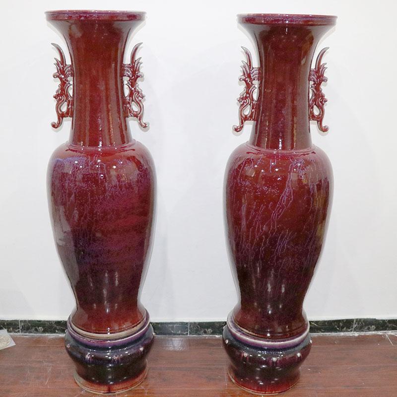 双龙钧瓷大花瓶
