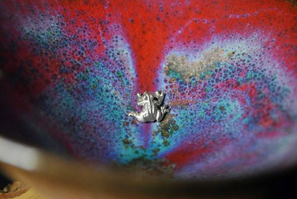 锔瓷主人杯-钧瓷茶杯