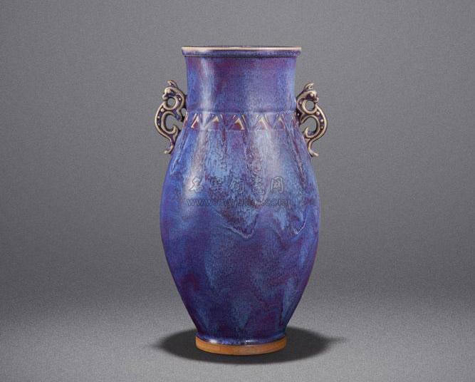 任星航钧瓷作品:双龙瓶