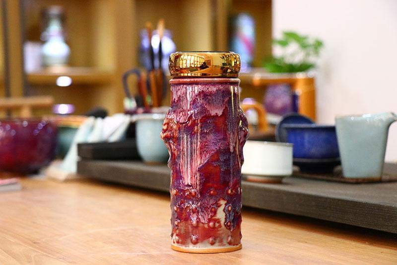 钧瓷养生活水杯-瑞兽造型